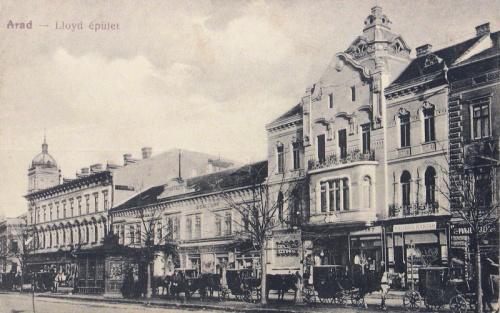 Arad:Lloyd épület,pálinka raktár.1915