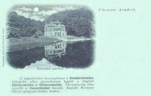 Arad:korcsolya pavillon.(kenőcs,csokoládé,cukorka reklám).1899