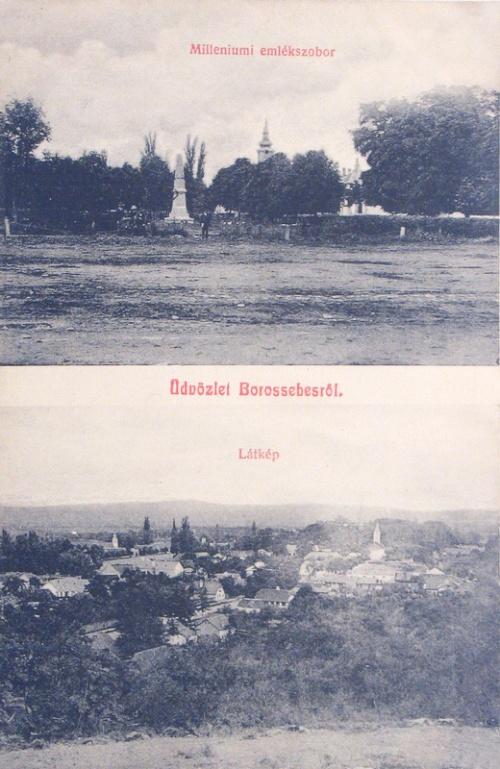Borossebes:milleniumi emlék szobor.1908