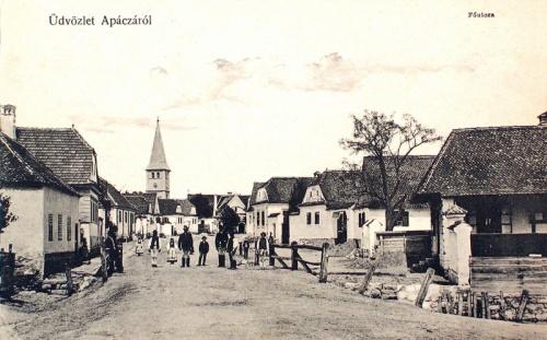 Apácza:fő utca.1910