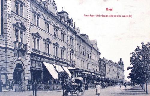 Arad:Andrássy tér,Központi szálloda.1908