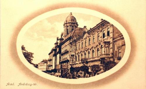 Arad:Andrássy tér,minoriták temploma.1911
