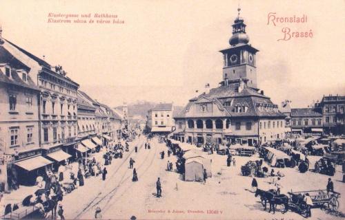 Brassó:Klastrom utca és városháza.1900