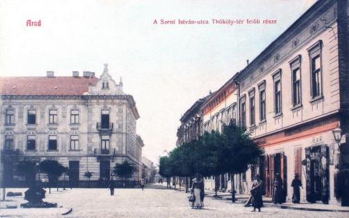 Arad:Szent István utca a Thököly utca felöl.1908