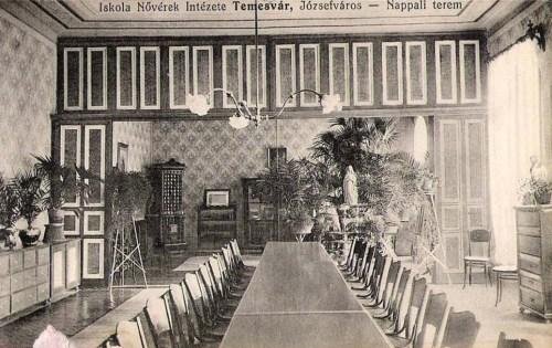 Temesvár,Iskola Nővérek Intézete:nappali terem. 1911