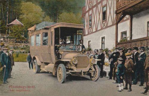 Feketehegy fürdő:auto megálló.1913