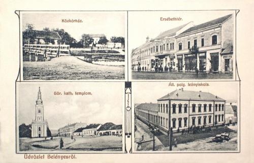 Belényes:Polgári Leányiskola,Közkorház,Erzsébet tér.1910