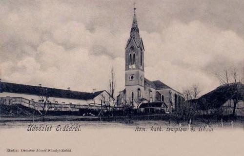 Erdöd:katolikus templom és iskola.1904