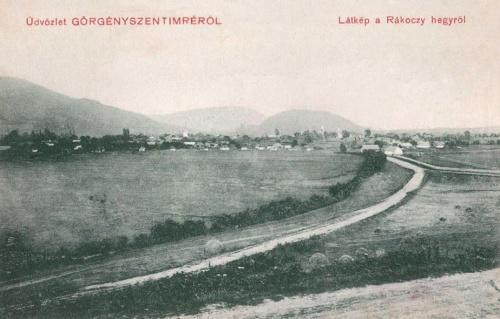 Görgényszentimre:látkép a Rákóczi hegyről.1911