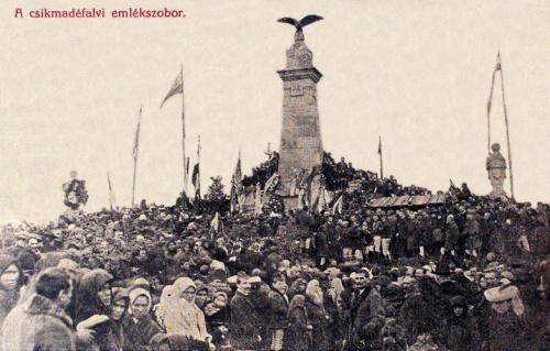 Madéfalva:székely vértanúk emlékművének felavatása.1905 okt.8.