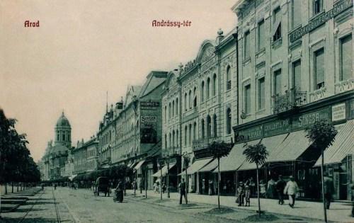 Arad:Andrássy tér,gyógyszertár,fogorvosi rendelő.1909