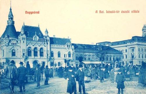 Nagyvárad:Szent László tér északi oldala.1908