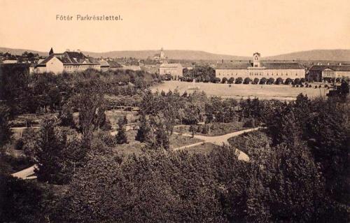 Sepsiszentgyörgy:főtér,park részlet.1911