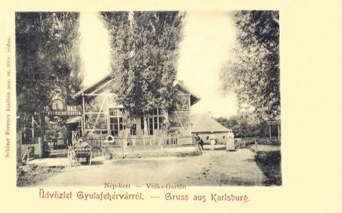 Gyulafehérvár:Népkert.1904