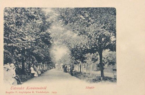 Kovászna:sétatér.1901