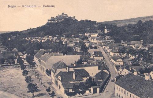 Kőhalom:látkép a várral.1915