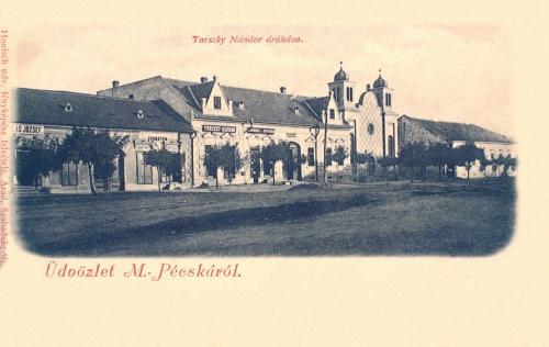 Magyarpécska:templom és áruház.1902