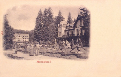 Marilla:fürdő épületek a parkkal.1902