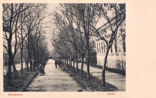 Kovászna:sétatér.1907