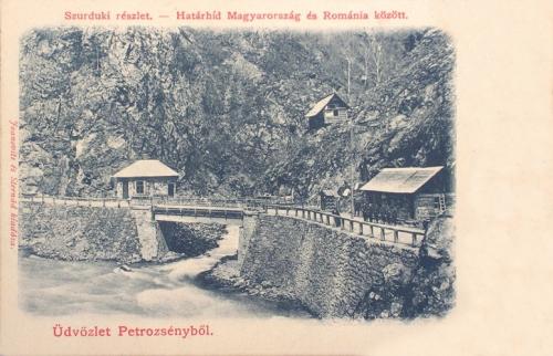 Petrozsény:szurduki -szoros,magyar-román határ.1902