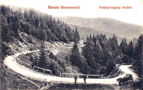 Máramaros:szerpenti a Priszlop tető felé.1908