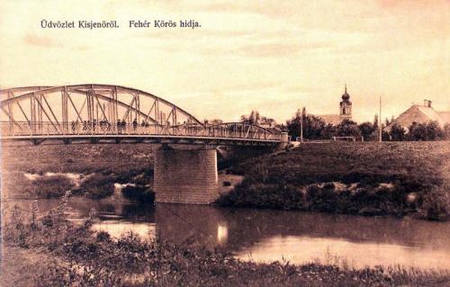 Kisjenő:Fehér Körös hidja.1912