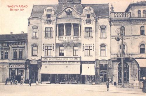 Nagyvárad:Bémer tér,Takarék Pénztár és Pannonia szálló.1909