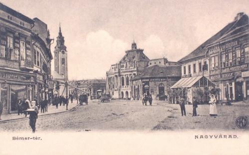 Nagyvárad:Bémer tér,jobbra Magyar Király szálló.1904