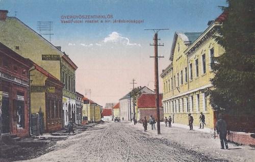 Gyergyószentmiklós:vasút utca,Királyi Járásbiróság.1916