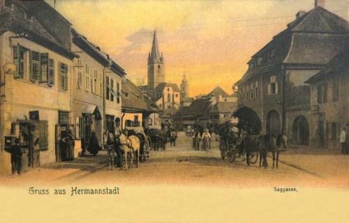 Nagyszeben:Görbe utca.1904