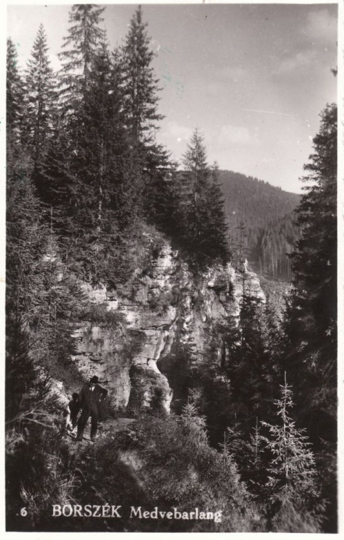 Borszék:Medvebarlang.1942