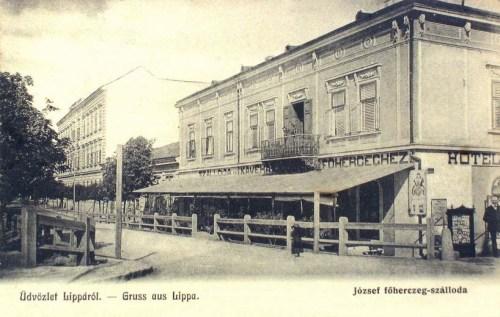 Lippa:József főherceg szálloda.1903