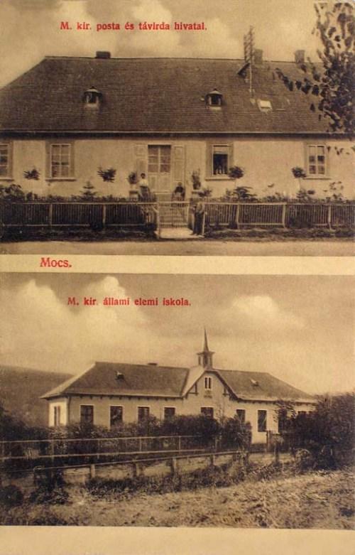Mocs:posta és állami elemi iskola.1912
