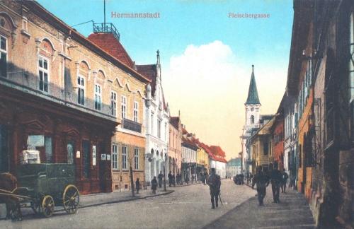 Nagyszeben:Hentes utca.1915