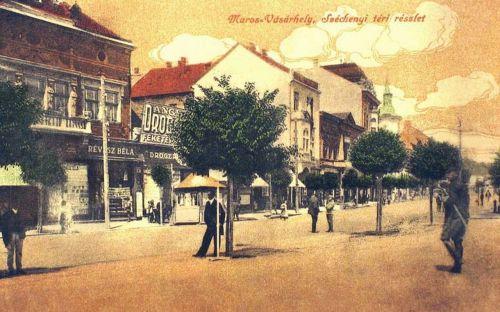 Marosvásárhely:balra Révész Béla könyvkereskedése.1916
