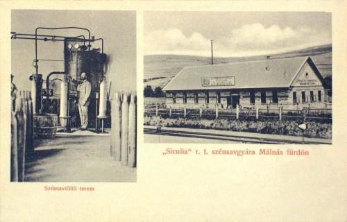 Málnás: Siculia R.T, szénsav gyár.1907