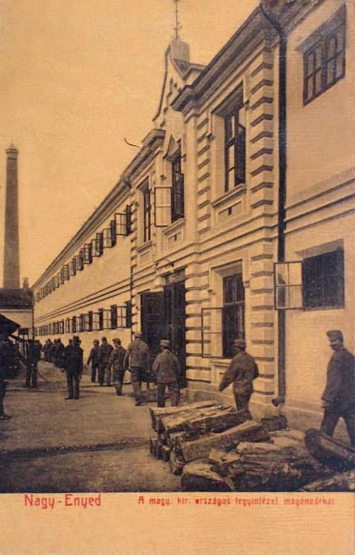 Nagyenyed:fegyintézet magánzárkái.1908