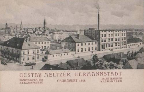 Nagyszeben:szappan és gyertya gyár.1907