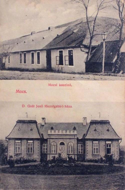 Mócs:kaszinó és Dr.Gaál Jenő főszolgabiró háza.1912