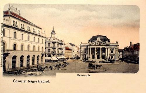 Nagyvárad:Bémer tér,jobbra a Pannónia szálló.1904