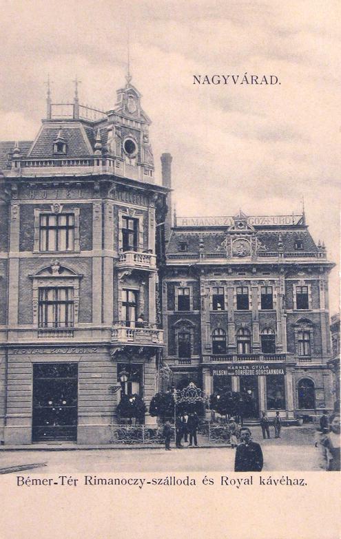Nagyvárad:Royal kávéház és Rimanóczy szálloda.1907