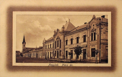Nagylak:piac tér,templom.1912