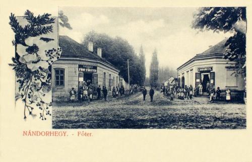 Nándorhegy:főtér,vendéglő.1907