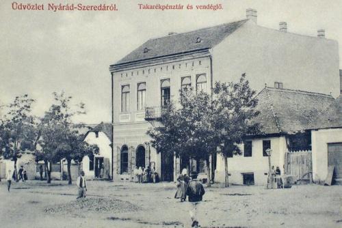Nyárádszereda:Takarékpénztár és szálloda.1909