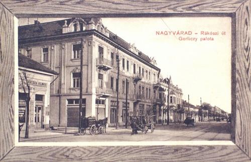 Nagyvárad:Rákóczi út,Gerlitzy palota.1911
