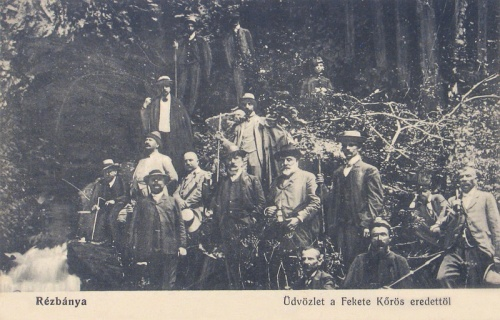 Rézbánya:Fekete-Kőrös forrása.1914