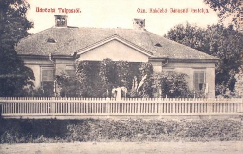 Talpas:Kabdebó Jánosné kastélya.1908