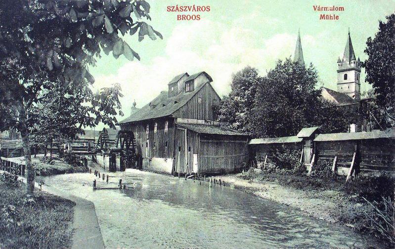 Szászváros:vármalom.1912