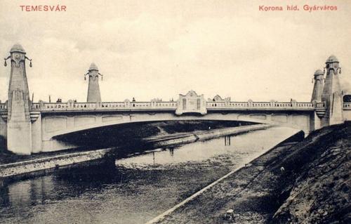 Temesvár:Gyárváros,Korona hid.1910