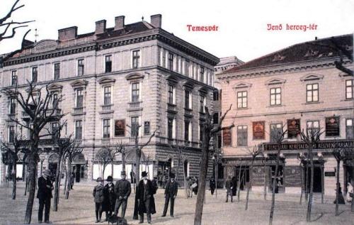 Temesvár:Jenő herceg tér,Takarékpénztár.1908